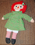 Click here to enlarge image and see more about item PSR0006: 1988 Playskool 17-18 Inch Christmas Raggedy Ann Doll