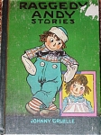 The hardcover book, Raggedy Andy's Stories, was written and was illustrated by Johnny Gruelle. This book is from the 1960 printing with  large picture on a green cover, and it was copyrighted in 1920, 1947, and 1948. Bobbs-Merrill and Company is the publisher. This book is complete with its original color and black-and-white drawings. It contains 95 pages. It contains stories about Raggedy Andy, Raggedy Ann, Marcella, Marcella's father, and the other dolls and toys in the nursery. The dolls and toys come to life whenever Marcella and her family are away or asleep. This classic is in very good condition except for a spot on its cover which was once covered with a price tag. This reprint was published before books had ISBN numbers. Expand listing to view both photographs.