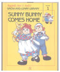 This listing is for the hard cover book, Sunny Bunny Comes Home, Volume 1 in Raggedy Ann and Andy's Grow-and-Learn Library. It contains 44 pages with large print and color illustrations on each page. This was copyrighted by Macmillan, Inc. in 1988, and published by Lynx Books. The characters and drawings are based on the creations of Johnny Gruelle.  The book is preowned and only gently used; though it has a minor tear at the seam line of the inner cover which does not affect the pages or turning of them. Other than that, there are no problems and the condition is excellent. The book is meant for a young child to read, though it is also good to read to a child. Sunny Bunny comes to live with Marcella, Raggedy Ann and Andy, and the other toys and sees the special talents of the others. He is anxious at first until he also discovers a special talent. When the people are away the dolls, stuffed animals, and young animals come to life and talk and interact with one another in drawings like classical ones. The ISBN 10 number 1558021019.