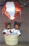 Click here to enlarge image and see more about item RAK0003: Raikes April and Johnnie Bear Set with Hot Air Balloon 1993