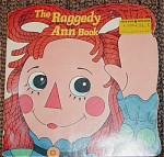 Click here to enlarge image and see more about item RGR0004: The Raggedy Ann Book Shape Book, Janet Fulton 1969