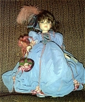 Click here to enlarge image and see more about item ROW0016: Robin Woods Gone with the Wind Melanie Valentine Doll 1990