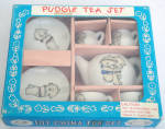 Click here to enlarge image and see more about item SPT0001: Pudgie China Tea Set, Shackman, Made in Japan, 1981