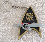 Click here to enlarge image and see more about item STE0051: Star Trek Communicator Key Chain Enesco 1993-94