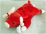 Click here to enlarge image and see more about item TBB0014A: Ty Snort the Red Bull Beanie Baby 1997-1998