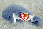 Ty, Inc. Retired Echo the Gray and White Dolphin beanie baby plush with correct tag, No. 4180 is from 1997-1998. The birth date of this retired beanie baby is December, 21, 1996. Echo was introduced May 11, 1997, and retired May 1, 1998. Echo the Dolphin's verse on the hang tag is: 'Echo the dolphin lives in the sea Playing with her friends, like you and me Through the waves she echoes the sound I'm so glad to have you around!' Beanie is 7 to 8 inches and has not been exposed to smoke or unpleasant odors. New and mint condition with tag.  Expand listing to view both photographs.