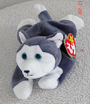 Click here to enlarge image and see more about item TBB0029: Ty Nanook the Husky Beanie Baby 1997-1999