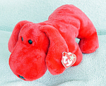 Click here to enlarge image and see more about item TBB0033B: Ty Rover the Red Dog Beanie Buddy, 1998