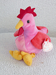 Click here to enlarge image and see more about item TBB0053A: Ty Strut the Baby Rooster Beanie Baby 1997-1999
