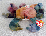 Click here to enlarge image and see more about item TBB0056: Ty Claude the Tie-Dyed Crab Beanie Baby 1997-98