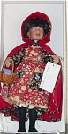 Click here to enlarge image and see more about item TON0001: Tonner 1996 Vinyl Red Riding Hood Artist Doll