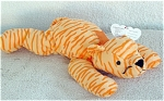 Ty, Inc., Purr, the Deep Yellow and Orange striped tiger Pillow Pal plush, No. 3016. This soft, striped tiger plush is 13 to 14 inches in size. Purr was introduced in 1997 and retired in 1998. Mint with tag and has not been exposed to smoke or unpleasant odors. Expand listing to view both photographs.