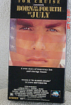 MCA Universal's 'Born on the Fourth of July' VHS R-rated movie starring Tom Cruise from 1989-90, is in Color, is 2 hours 25 minutes long. Its ISBN number is 1-55880-165-0. This movie is the true story of an embittered Vietnam War veteran.  This VHS is the original movie, and has its own cover; it is not a copy. It is in excellent condition, and has only been viewed once. Expand listing to view both photographs.