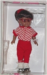 Click here to enlarge image and see more about item VOG1416A: Vogue 1999 Roller Rink African-American Modern Ginny Doll