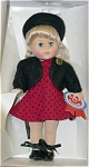 Click here to enlarge image and see more about item VOG1642: Vogue Press Conference Ginny for President Doll 2000