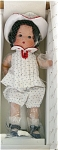 Click here to enlarge image and see more about item VOG1911A: Vogue 2003 Small Just Me Dotted Swiss Doll