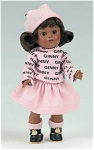Click here to enlarge image and see more about item VOG2301A: 2006 Vogue Club Afro-American Rain or Shine Ginny Doll Kit