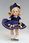 Click here to enlarge image and see more about item VOG2357: 2006 Vogue Roller Skater Vintage Repro Ginny Doll