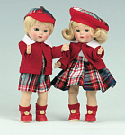 Vogue Blonde Steve and Eve Vintage Reproduction Ginny Dolls