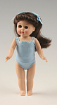 Click here to enlarge image and see more about item VOG2431B: Vogue Dress Me Brunette Modern Ginny Doll in Blue 2007