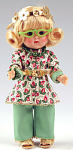 Click here to enlarge image and see more about item VOG2466: Vogue And Away We Go Vintage Reproduction Ginny Doll 2007