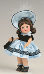 Click here to enlarge image and see more about item VOG2501A: Vogue Doll Blue Satin Ginny Vintage Repro Doll Club Kit 08