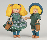 Click here to enlarge image and see more about item VOG2508AB: Vogue Mini Ginny Jack and Jill Dolls 2008