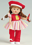 Click here to enlarge image and see more about item VOG2513: Vogue Crayons Mini Ginny Doll in Red 2008