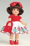 Click here to enlarge image and see more about item VOG2575: Vogue Christmas Tree Vintage Repro Ginny Doll 2008
