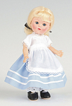Click here to enlarge image and see more about item VOG2576: Vogue Marge Meisinger's Alice Vintage Repro Ginny Doll 2008