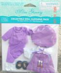 Click here to enlarge image and see more about item VOG2629: Vogue Mini Ginny Doll Artist Smock Outfit Only 2009