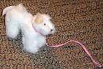 Vogue Sparky Dog for Ginny Dolls with Pink Leash, 2010