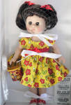 Click here to enlarge image and see more about item VOG2807A: Vogue 2011 Flower Power Modern Ginny Doll