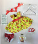 Click here to enlarge image and see more about item VOG2807B: Vogue Flower Power Modern Ginny Doll Clothing Pack 2011