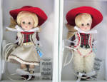 Click here to enlarge image and see more about item VOG2821: Vogue Westward Ho! Cowgirl, Cowboy Vintage Repro Ginny Dolls