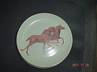 Home Sage Salad Plates - Two Running Horses Decal