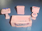 VINTAGE Renwal Bathroom Doll Furniture - STENCILS
