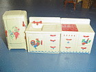 VINTAGE Renwal White Kitchen Doll Furniture - STENCILS