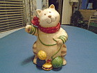 Mervyn's Cat Knitting Cookie Jar