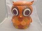 Orange Owl Ceramic Cookie Jar