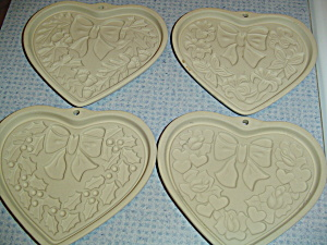 Pampered Chef Shortbread Molds Seasons Of The Heart 2003 Set Of 4