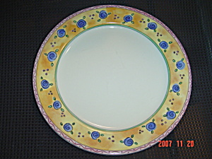 Sango Watercolors Apricot Jam Dinner Plates