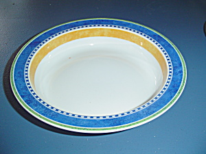 Dansk Bistro Soup Bowls Blue, White, Orange, Green