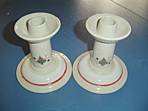 Noritake Epoch Holiday Joy Candle Holders Candlesticks