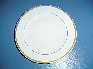 Steubenville White W/gold Trim Bread And Butter Plates