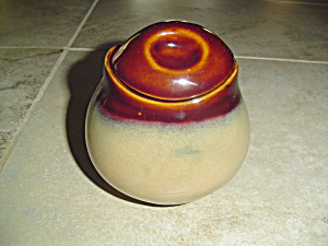Sango Nova Brown Covered Sugar Bowl