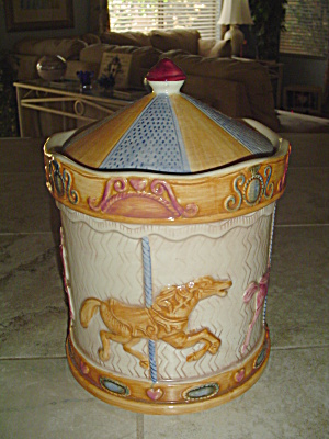 Treasure Craft Carousel Ceramic Cookie Jar