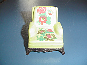 Vintage Renwal Green Easy Chair Doll Furniture - Stencils