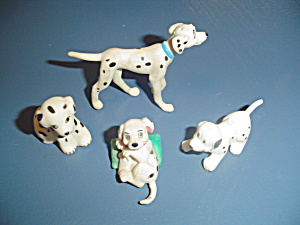 4 Dalmatian Dogs For Doll Houses Miniature Furnishings