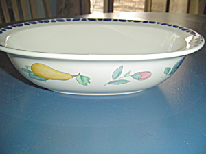 Pfaltzgraff Summer Garden Oval Rimmed Serving Bowl